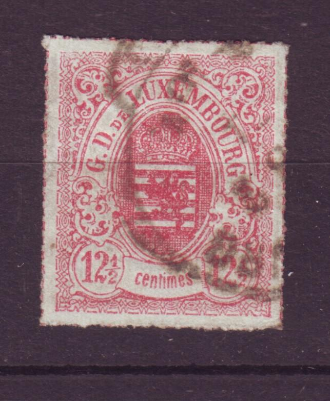 J18955 Jlstamps 1865-74 luxembourg used #20 coat of arms