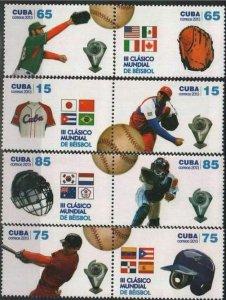 CUBA Sc# 5368-5371  BASEBALL CLASSIC  2013  sports Cpl set of 8  MNH