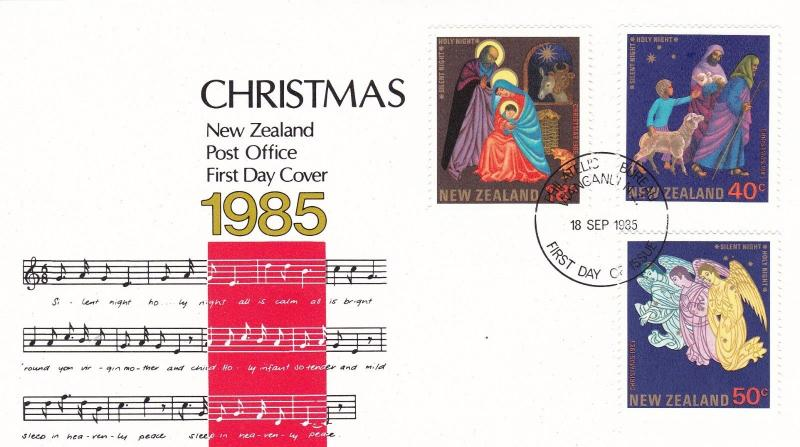 New Zealand 1985 Christmas FDC Unadressed VGC