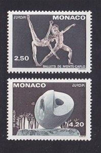 Monaco  #1861-1862   MNH  1993  Europa    ballet    sculpture
