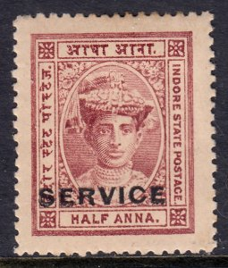 India (Indore) - Scott #O1 - MH - Toning - SCV $1.10