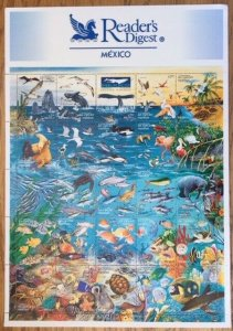 MEXICO; 1998 MNH Ocean Life Sheet of 25 - Sc 2090; Fish Dophins Birds Turtle