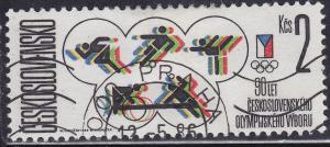 Czechoslovakia 2606 USED 1985 90th Intl Olympic Committee