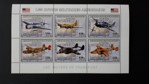 Aviation - Planes - US America - Congo 2006 - sheet + compl. of 6 ss perf ** MNH