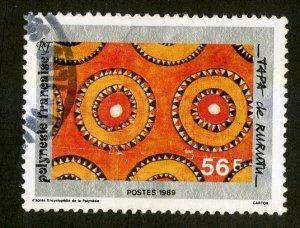 FRENCH POLYNESIA 509 USED BIN $.50 CIRCLES