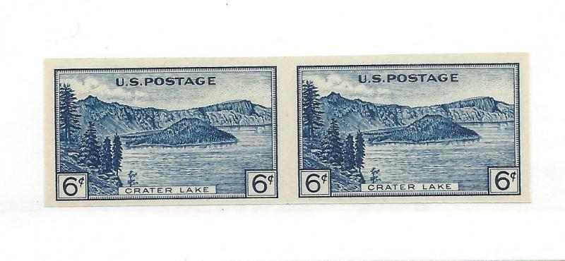 United States, 761, Crater Lake Horizontal Pair,MNH