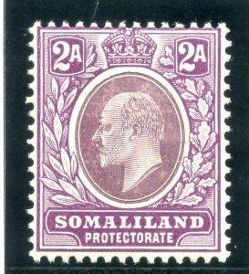 Somaliland 1909 KEVII 2a dull & bright purple (CH) superb MNH. SG 47a.