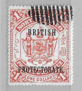 North Borneo 118 $1 Protectorate single Used