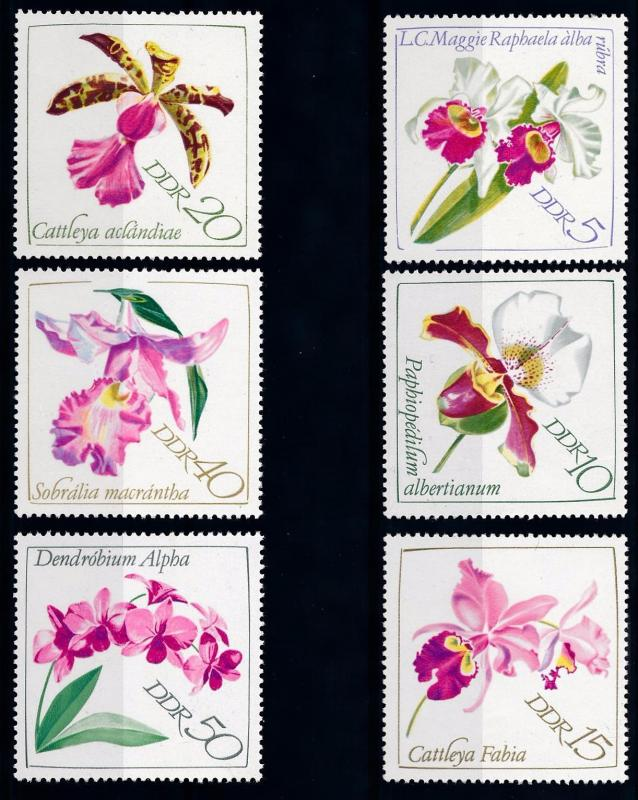 [67625] Germany DDR 1968 Flora Flowers Blumen Orchids  MNH