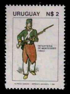 Uruguay Scott 1107 MNH** soldier in Uniform stamp