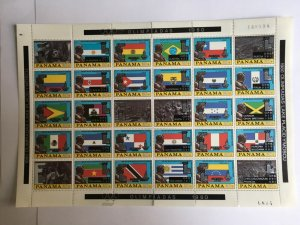 PANAMA 1980 1335-94 Flags  Olympics Moscow Lake Placid Mint