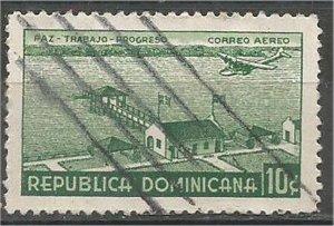 DOMINICANA,  1937, used 10c , Airport Scott C23