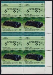 St Vincent Grenadines Union Is 149 BR Block Specimen o/p MNH Car, Lagonda