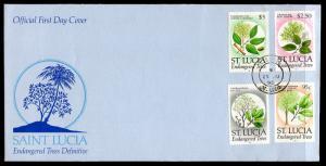St Lucia 959,960,922-923 Trees U/A FDC
