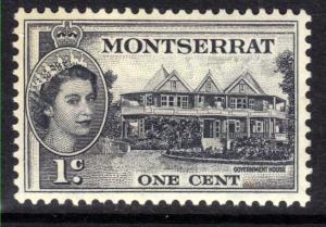 Montserrat 1953 - 62 QE2  1ct Black MM SG 137 ( D958 )