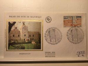 France Colorano silk FDC, 21 avril 1979, Palais des rois de Majorque