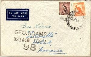 PAPUA NEW GUINEA..1952 Airmail Tatts cover with Australian stamps. Port Moresby