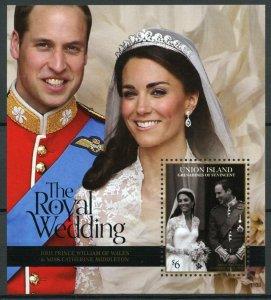 Union Island Gren St Vincent Stamps 2011 MNH Royal Wedding William & Kate 1v SS