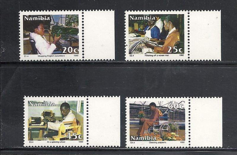 Namibia #722-5 comp mnh cv $1.95 Disabled Workers