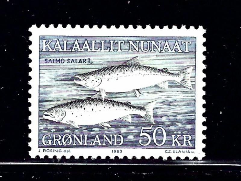 Greenland 141 MNH From 1981-86 set showing Fish