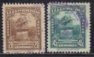 VENEZUELA SC # C147+C151 **USED** 20c,45c 1940-44   SEE SCAN