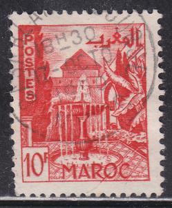 Fr Morocco 255 Hinged 1949 Meknes Garden