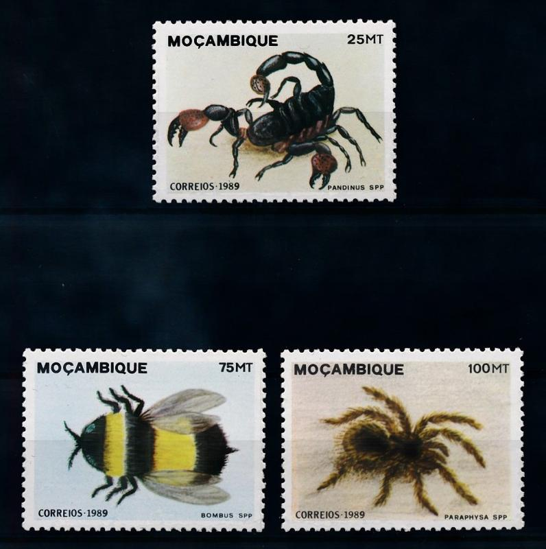 [70403] Mozambique 1989 Insects Spider Scorpion From Set MNH