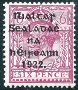 IRELAND-1922 6d Reddish-Purple Sg 39 UNMOUNTED MINT V23887