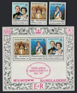 Bangladesh Silver Jubilee 3v+MS SG#92-MS96 SC#132-135a