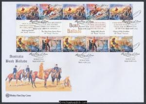 13-May-2014 Australia Bush Ballads Gutter Strip Wesley First Day Cover