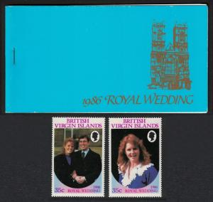 BVI Royal Wedding Prince Andrew 4v Booklet SG#SB2
