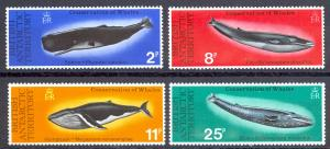 British Antarctic Territory Sc# 64-67 MNH 1977 Whales