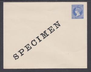 Sierra Leone H&G B2 mint 1899 2½p ultra Queen Victoria SPECIMEN Envelope, VF