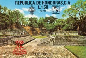 Honduras 1978 Sc#C619 Argentina World Cup SS ovpt.Red (1) MNH