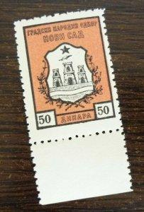 Yugoslavia Serbia NOVI SAD Local Revenue Stamp 50 Dinara  CX54