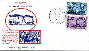 1971 N. Y. & Wash R.P.O. Railway Post Office + Cachet #101