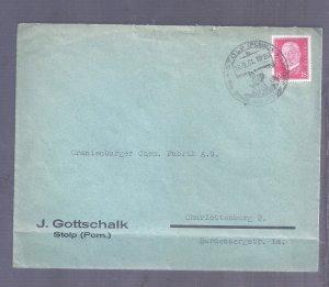 ISRAEL JUDAICA 1931 GERMANY COVER JEWISH MAN GOTTSCHALK