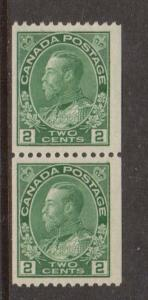Canada #133 Mint Coil Pair