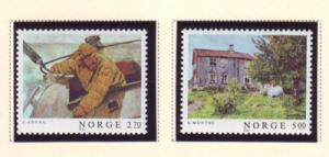 Norway Sc 915-6 1987 Paintings stamps mint NH