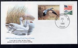 US RW55 Snow Goose Fleetwood U/A FDC