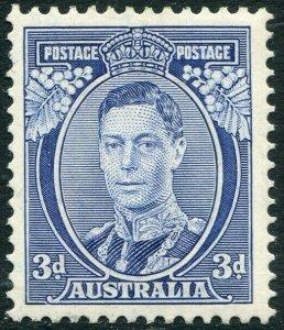 AUSTRALIA-1937 3d Blue Die I Sg 168 MOUNTED MINT  V32845