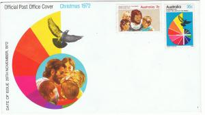 AUSTRALIA 1972 CHRISTMAS FIRST DAY COVER