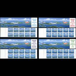 PALAU 1989 - Scott# C18a-20b Booklets-Planes NH