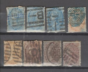 COLLECTION LOT # 2976 INDIA 8 STAMPS 1855+ CLEARANCE CV+$13