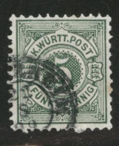 Germany State Wurttemberg Scott 59 used 1890