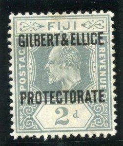 Gilbert & Ellice Is 1911 KEVII 2d grey MLH. SG 3. Sc 3.
