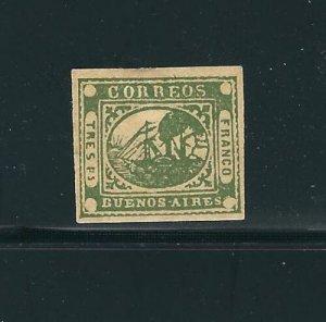 Agentina Beunos Aires 3 3P Green NGAI VF 1858 SCV $1500.00