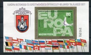 Hungary 1977 Mi  Block 126A MNH Europa