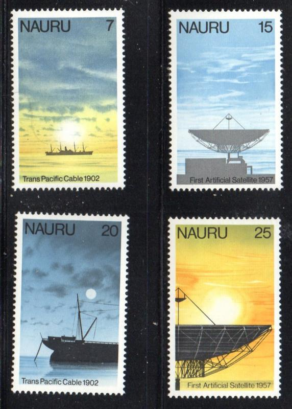 Nauru Sc 152-5 1977 Cable & Satelite stamp set mint NH