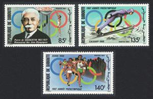 Djibouti Olympic Games Calgary and Seoul 1988 3v 1987 MNH SG#1006-1008